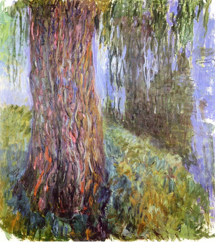 Claude Monet 1916 19 Water Lily Garden With Weeping Willow Oil On Canvas  200 X 180 Cm. Musée Marmottan Monet, Paris