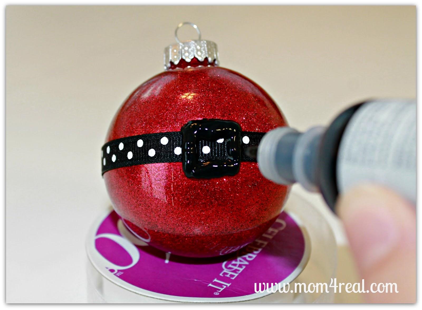 Christmas Bulb Craft Ideas Part - 37: Santau0027s Belt Ornament {Glitter In Glass}