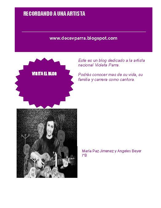 vida y obra de violeta parra: