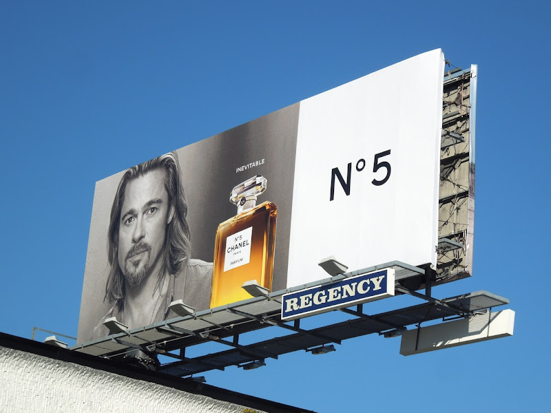Brad Pitt Inevitable Chanel No 5 billboard
