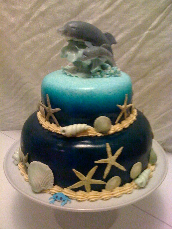 Flirting With Frosting Gumpaste And Fondant Dolphin Birthday Cake