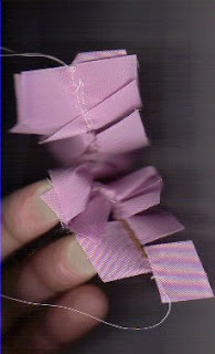 Ribbon ready for gathering for ribbon crafts