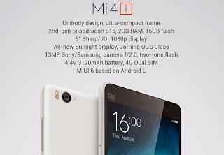 Xiaomi Mi 4i rilis di Indonesia, harga xiaomi mi 4i di Indonesia, Spesifikasi Xiaomi Mi 4i di Indonesia