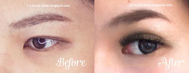 ... make up yang kecil p kemudian gambar afternya adalah setelah make up