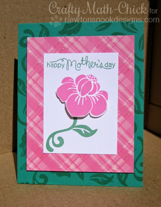 Mothers Day Flower card by Crafty Math-Chick | Fanciful Florals Bold Flower Stamp set by Newton's Nook Designs