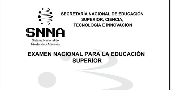 EXAMEN SENESCYT 2014 - PRUEBA RESUELTA PDF ~ PARVULARIAS DEL ECUADOR
