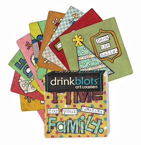Christmas Drinkblots art coasters: