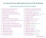 100 Ejercicios de Matemáticas para 3º