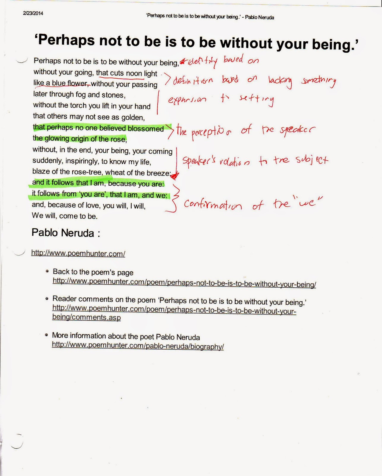 poem 20 pablo neruda analysis