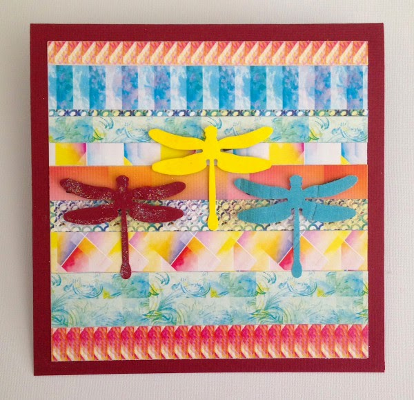 handmade greeting card drangonflies