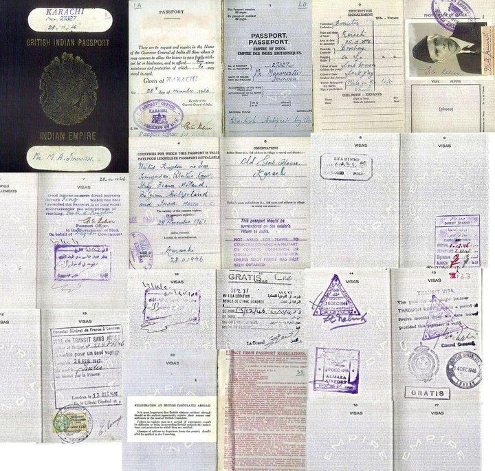 Quaid-e-Azams Passport