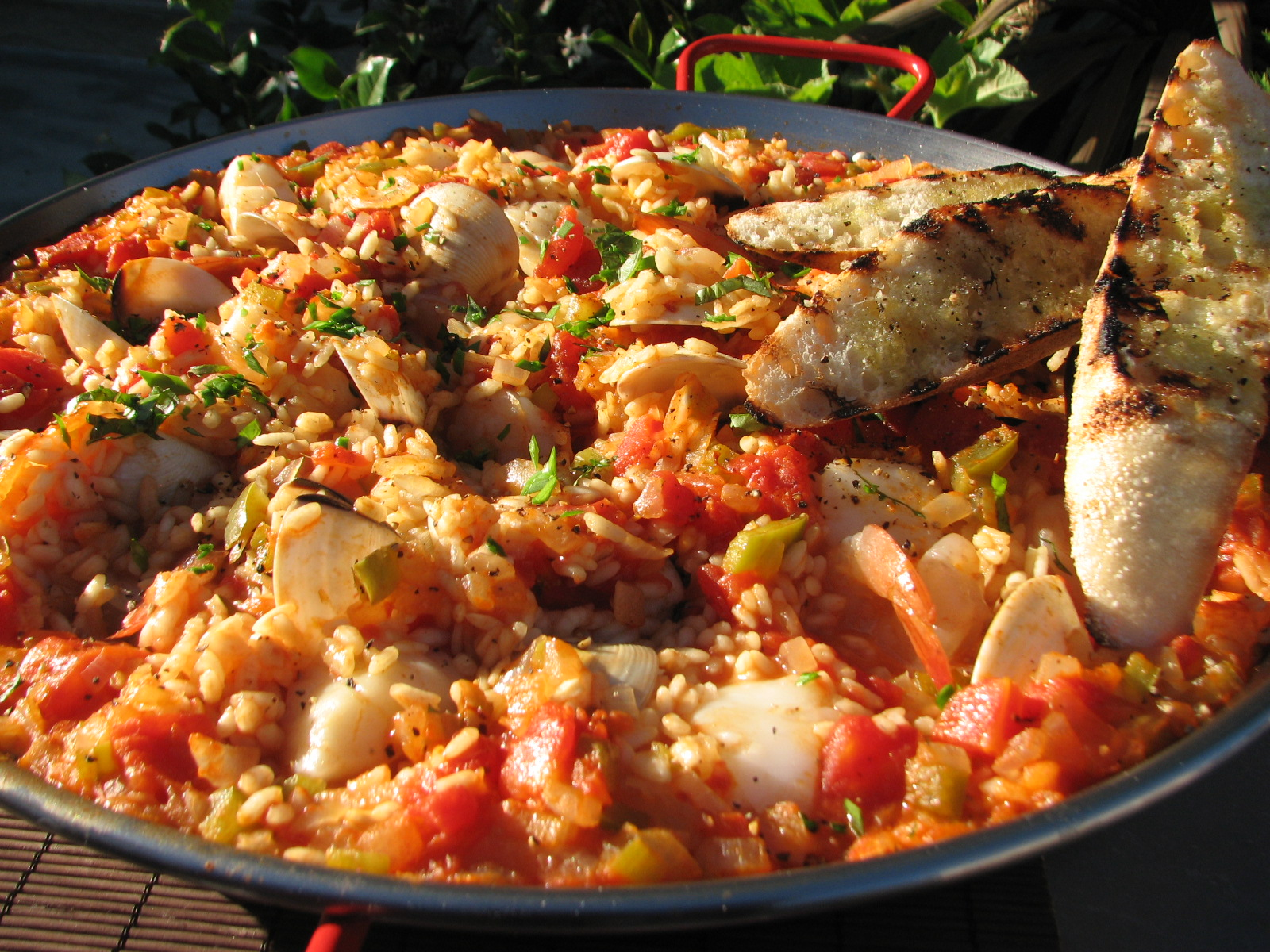 Traditional Mixed Seafood Spanish Paella