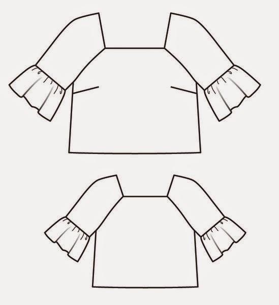 De falda a blusa RECICLAJE de ropa ~ Moda en la Costura