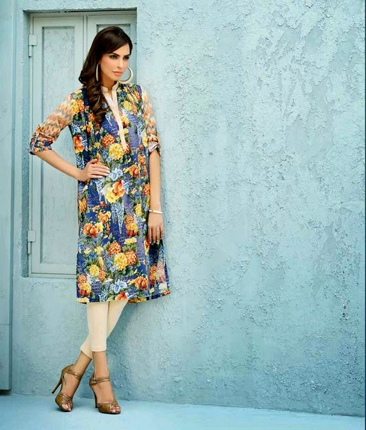 Five Star Digital Vogue Printed Kurtis 2014