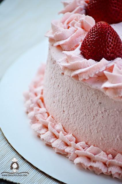 Layered Strawberry Shortcake Cake
