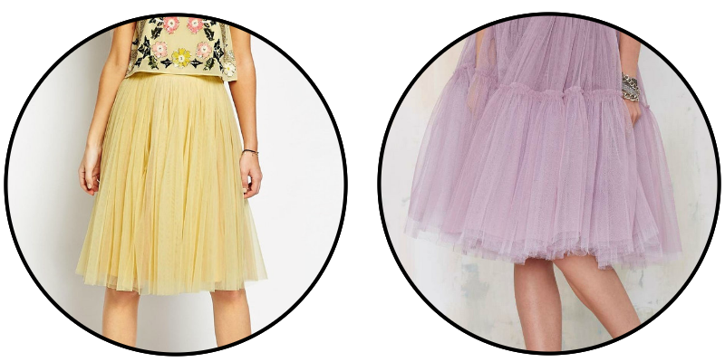 YELLOW LAVENDER TULLE SKIRT