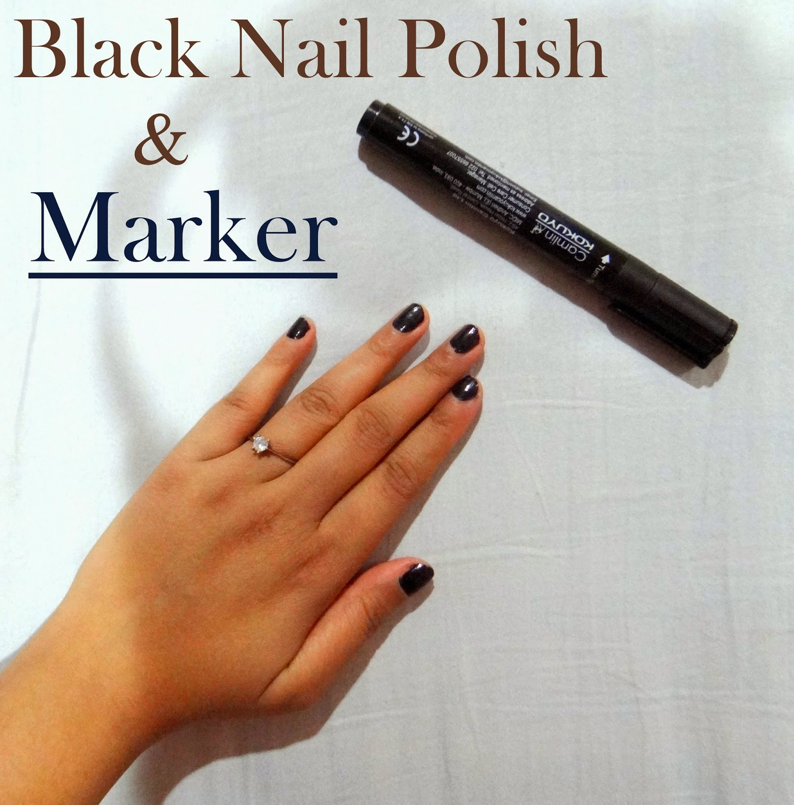 Black Nail Polish and Marker - The Pretty City Girl: Indian Travel ...