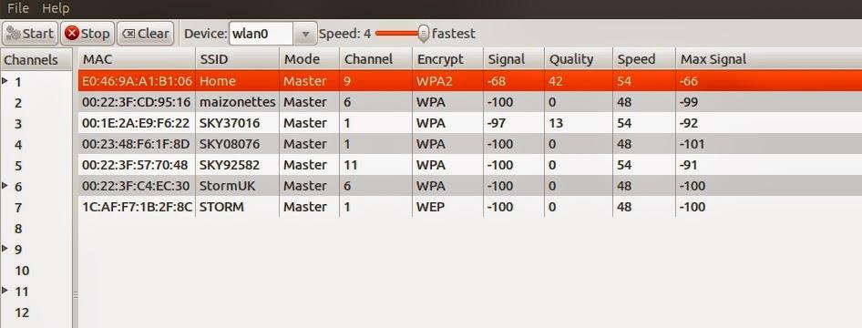 Escaneie rede Wi-Fi com Ubuntu