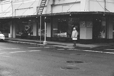 cold wet streets alone in a small town
