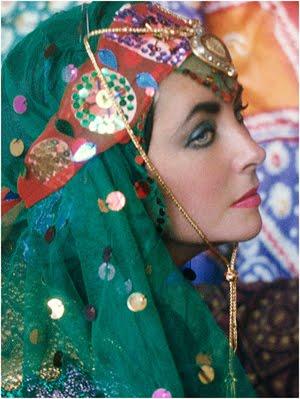 Firooz Zahedi. Eizabeth Taylor dressed as an Odalisque, 1976.