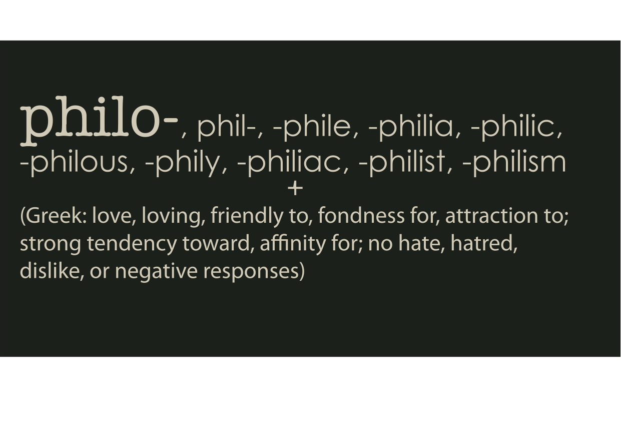 What does the root word philo mean - Answerscom