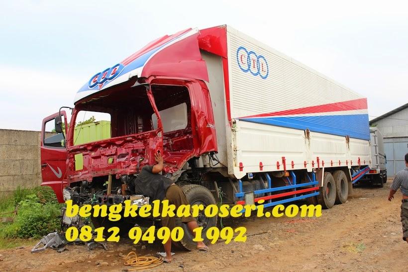 Repair dan perbaikan kabin truk penyok