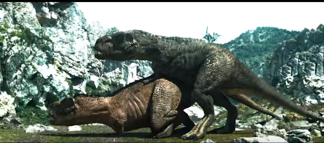 Japan's Number One condom brand Okamoto, which is known for its unconventional marketing strategy, has released a new ad featuring, well, dinosaur sex.  It's pre-historic times. A male and female T-Rex s come together for a ferocious makeout. The female dino is not happy, breaks away and snarling, while the male retreats in shame.