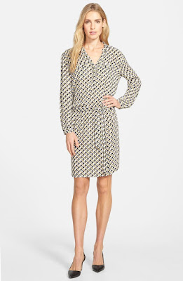 Caslon Print Split Neck Shirtdress