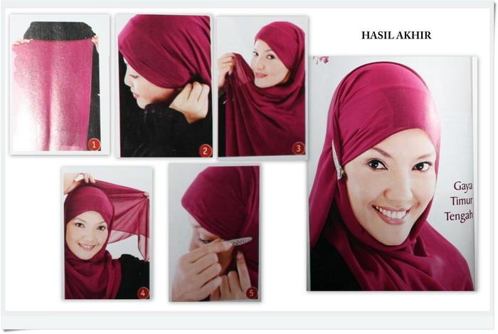 Kumpulan Gambar Cara Memakai Jilbab Pashmina