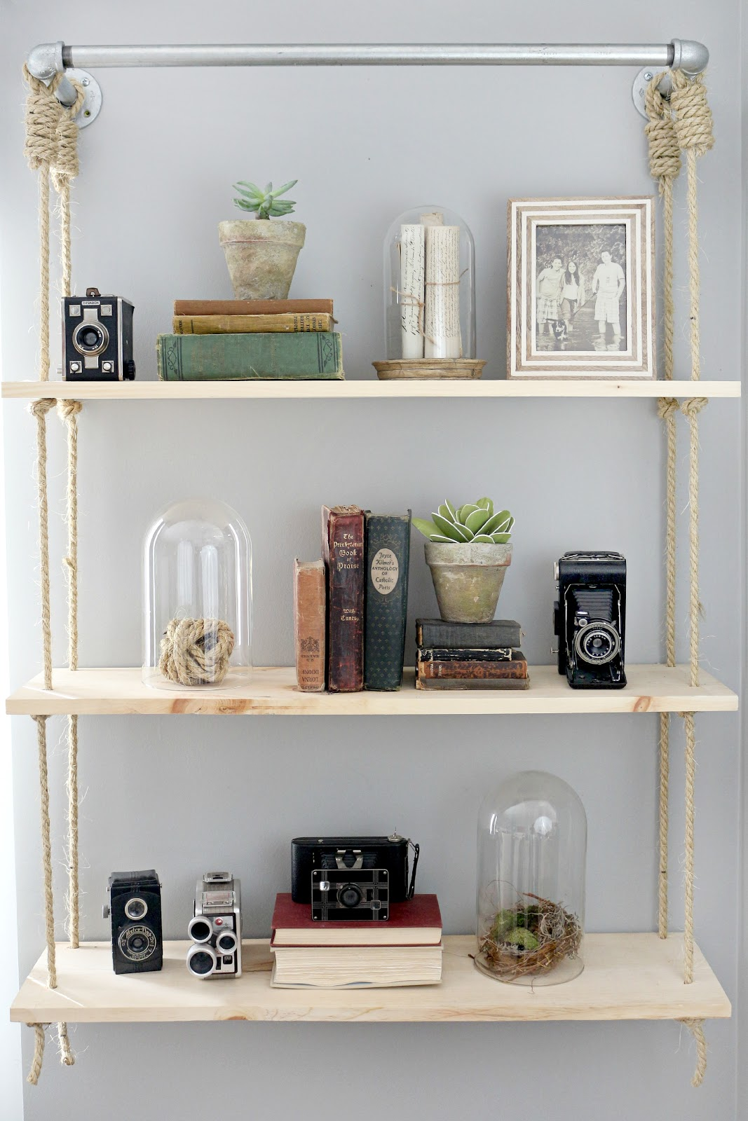 Hanging shelves craftberry bush