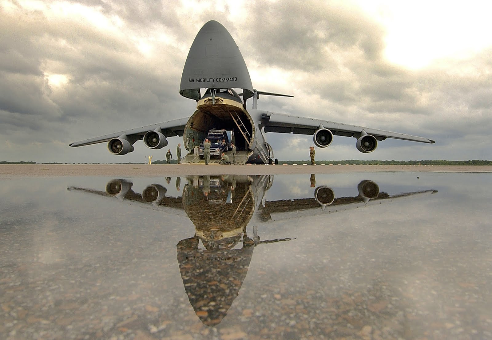 C-5 Galaxy military transport aircraft
