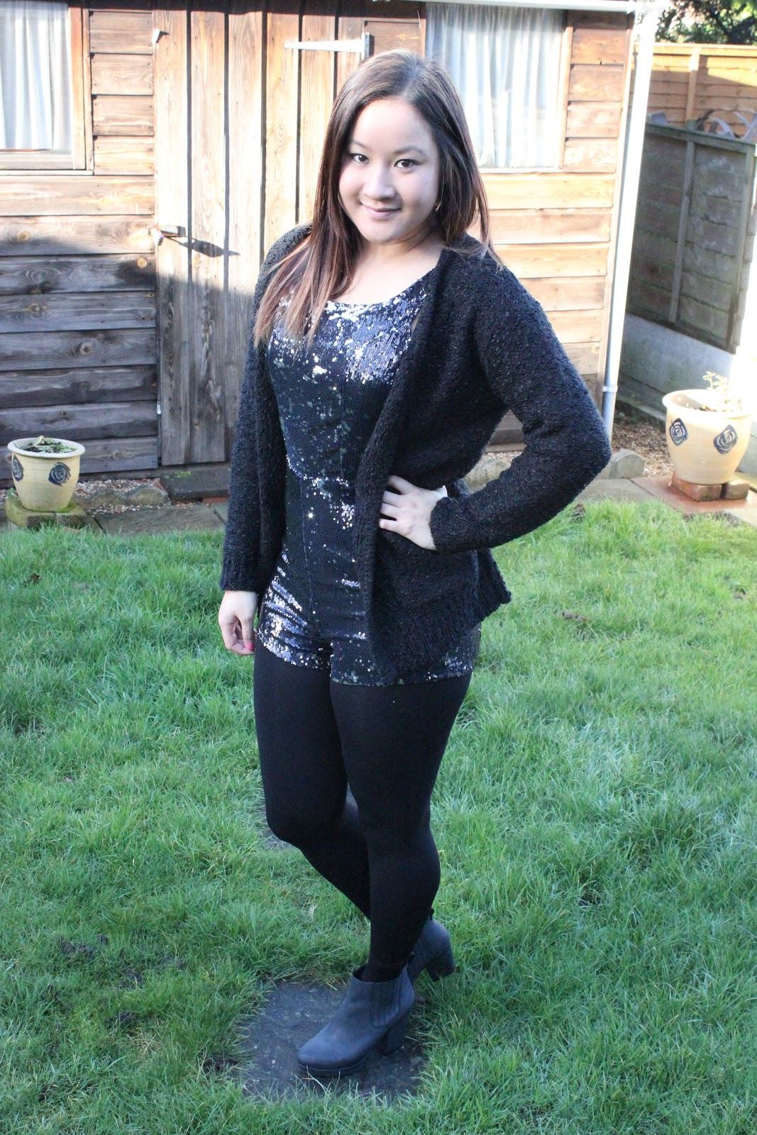 825e47bb537 OUTFIT - Sequin Playsuit - Raining Cake