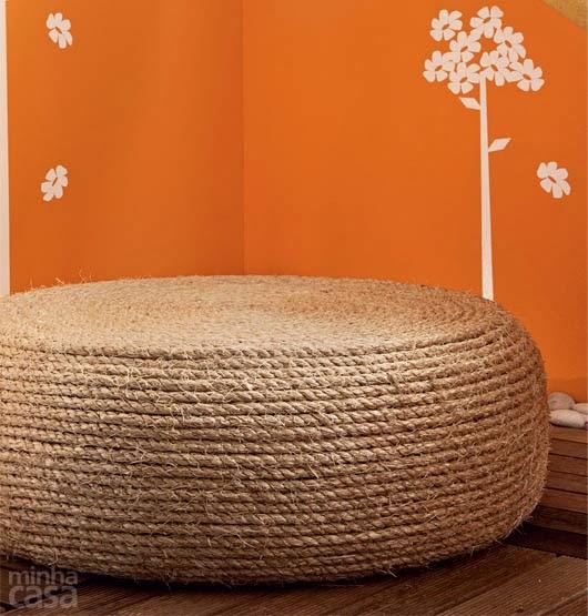 هذا هو الشكل النهائي للكرسي العثماني الذي صنع من إطار عجلة السيارة