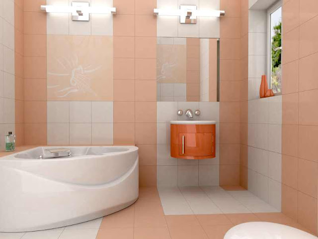 coral shower tile patterns and bathroom tiles design colors