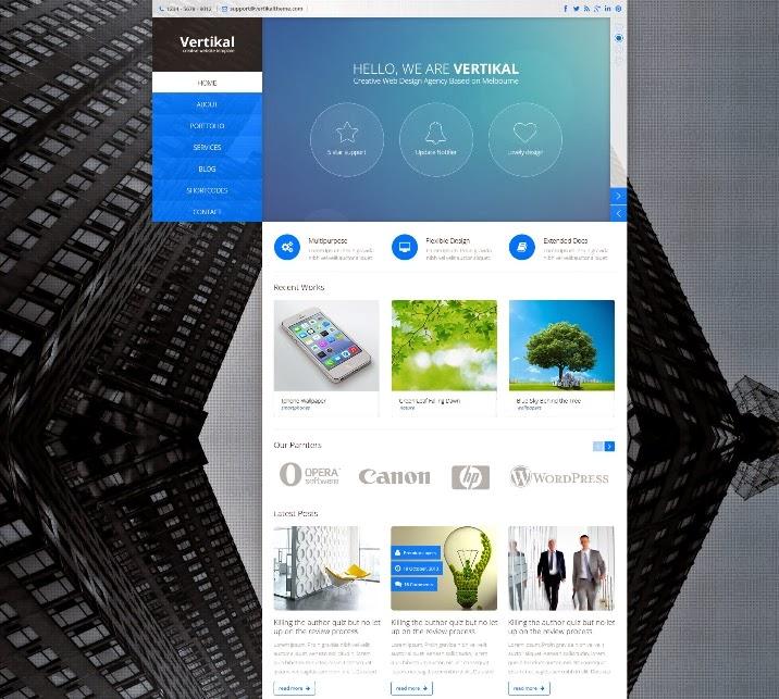 Vertikal - Creative PSD Template