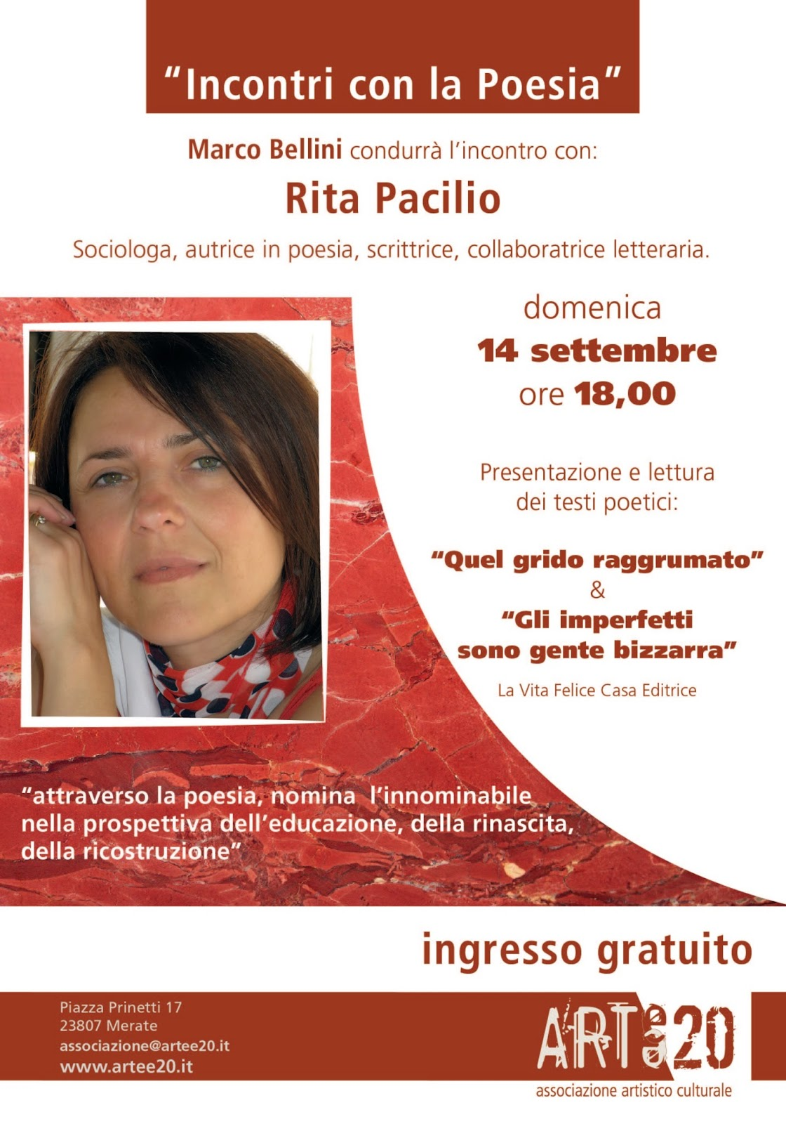 Poesia letteratura musica spettacolo settembre 2014 for Petrillo arredamenti