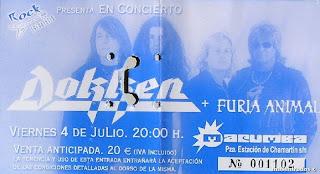 entrada de concierto de dokken