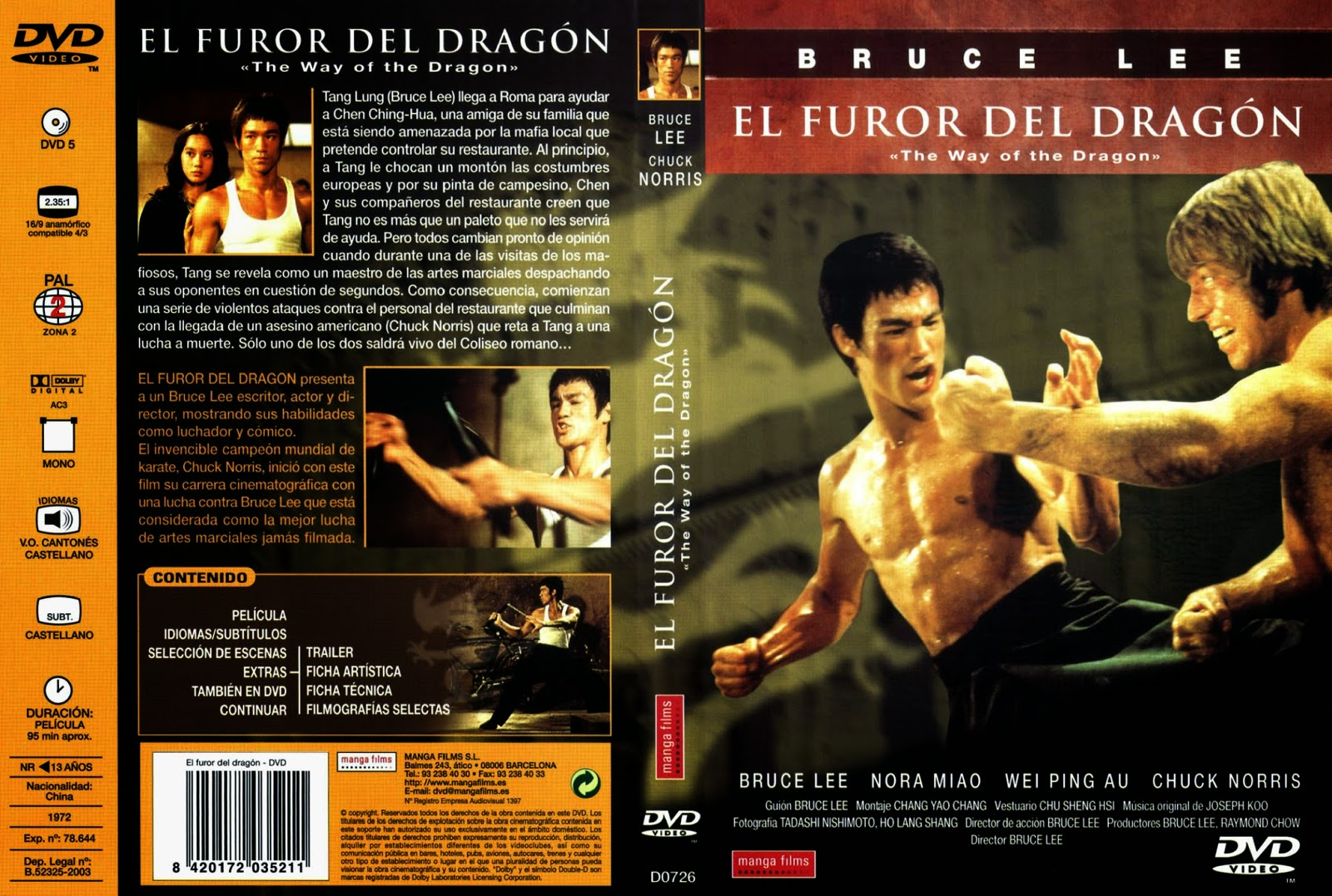 El Furor Del Dragon DVD