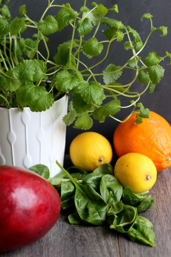 Smoothie, Smoothie-Mittwoch, Spinat, Zitrone, Zitronenmelisse, Fleurcoquet