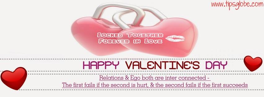 heart locked together valentine facebook cover 2015