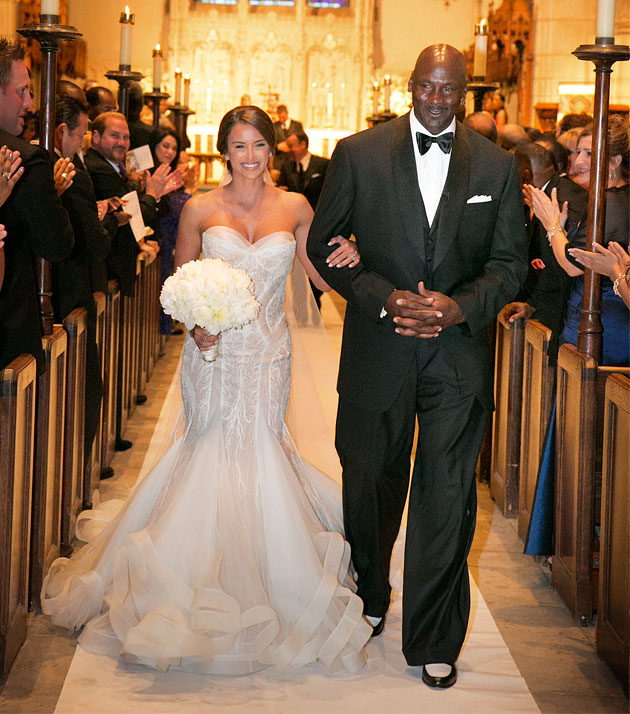 The Best Basket Baller Player Of All Time Michael Jordan Got Married To His Lover Five Years Yvette Prieto In Palm Beach Florida This April