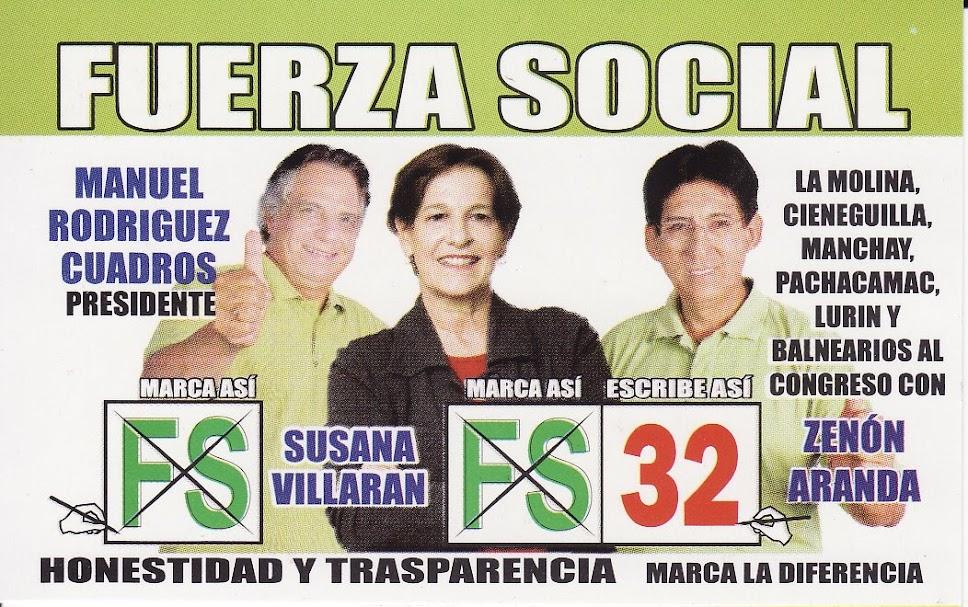 Zenon Aranda al Congreso con Nro. 32 Fuerza Social