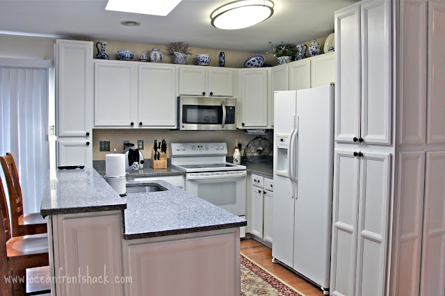 Painting Kitchen Cabinets In One Day Ocean Front Shack