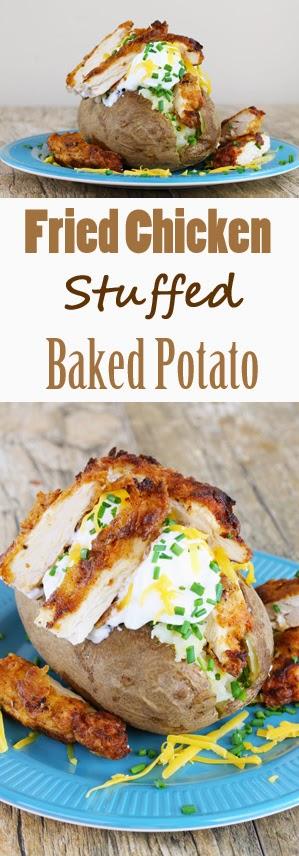 Fried Chicken Stuffed Baked Potato
