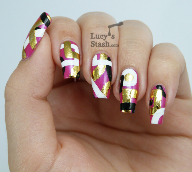 Simple abstract nail art designs simple but cute nail designs simple abstract nail art designs and this is how you can recreate design if do prinsesfo Image collections