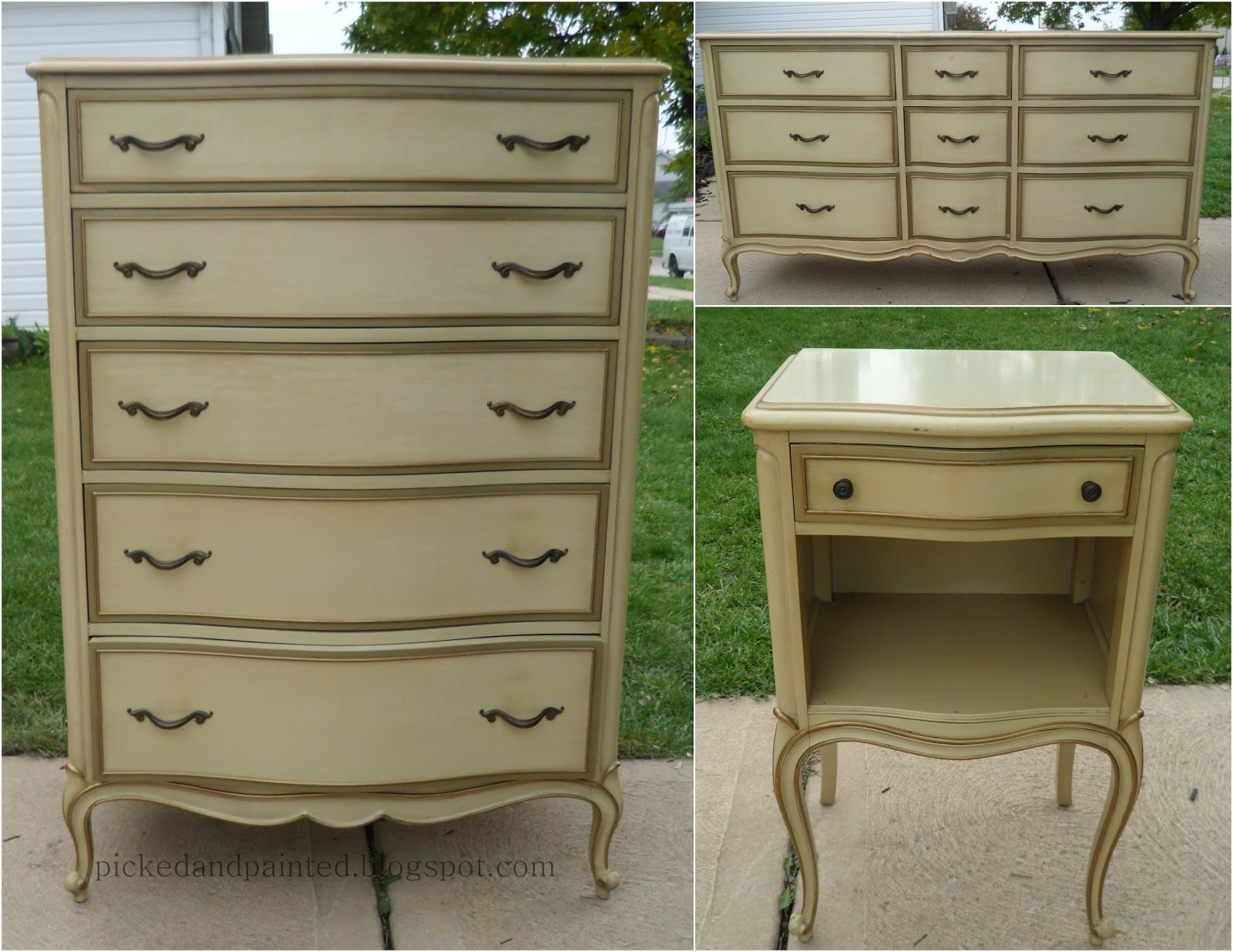 Picked & Painted: French Provincial Dresser Set