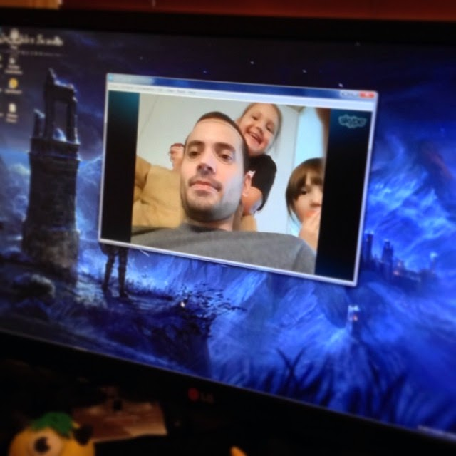 Skyping with Family Overseas