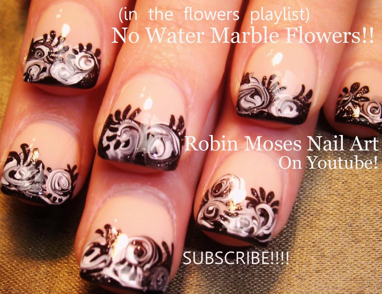 black and tan nail designs