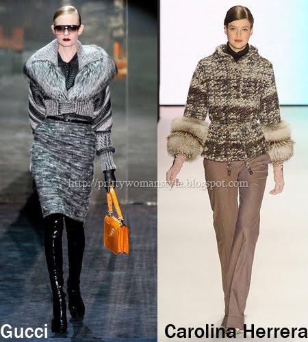 кожи и плетива - мода зима 2012