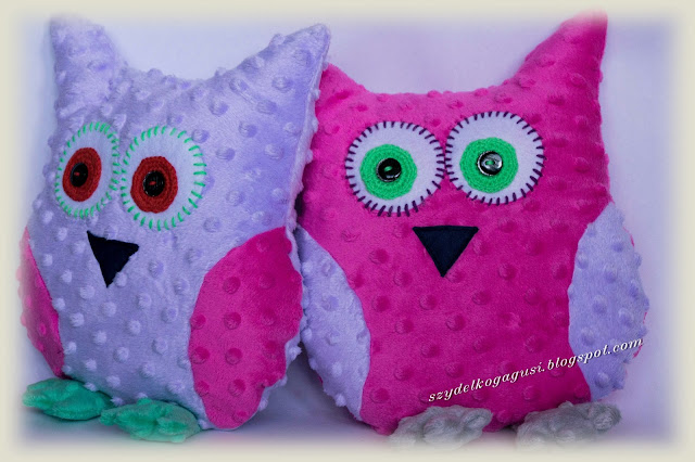 Minky pillow owl